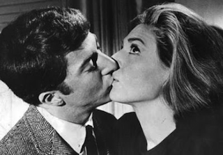 The Graduate kissing