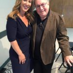 April Sugarman (pictured with fellow audiobook panelist/VO superstar Andre Stojka) at a Publishers Association of Los Angeles event...3 weeks after April completed the Aikido course